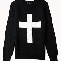 Chunky Knit Cross Sweater
