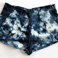 Tye Dye Cotton Short Shorts by shopABBEY on Etsy