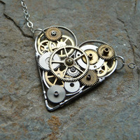 Clockwork Heart Necklace Emotion Engine Elegant by amechanicalmind