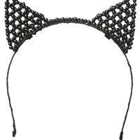 Sugar & Babe Cat Ears Headband  | Shop Accessories at Wet Seal