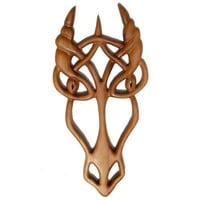 Dragon Knot-Celtic Wood Carved-Power- Primal Force of Nature - Cunning | signsofspirit - Woodworking on ArtFire
