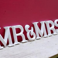 Mr and Mrs Sign - great wedding or anniversary present ? Cox & Cox, the difference between house and home.