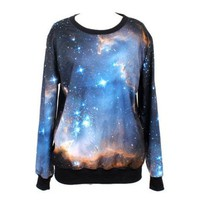 ZLYC Starry Night Print Leisure Sweatshirt for Girls