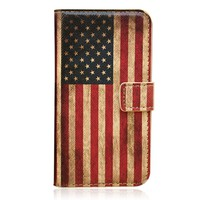 Retro American Flag Print Case for iPhone 5