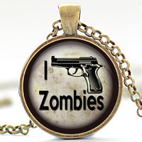 Zombies Necklace Walking Dead Jewelry Zombie by FrenchHoney