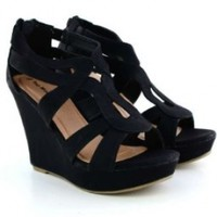 Lindy 03 Strappy Open Toe Platform Wedge:Amazon:Shoes