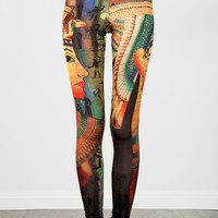 Multi Rainbow Egyptian Mural Leggings |  MakeMeChic.com