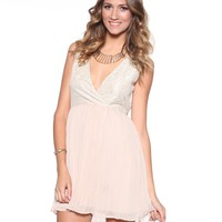 DJPremium.com -  Javier Lace and Poly Chiffon Dress