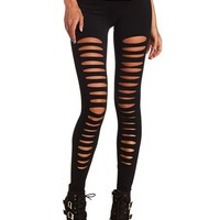 Slashed Cotton Legging: Charlotte Russe