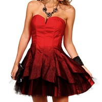 Genesis-Red Ombre Homecoming Dress