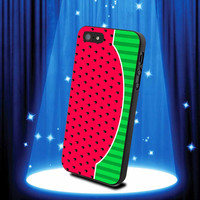 Watermelon Fruit Cute Red Printed Design by walabao for iPhone 4/4s and iPhone 5 Case, samsung s2, s3 s4 case cover