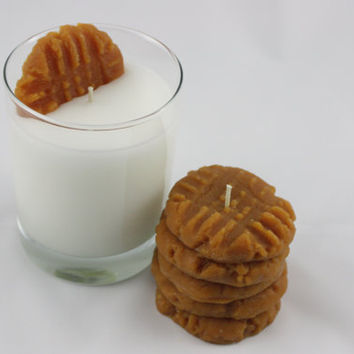 Candle Set Peanut Butter Cookies and Milk