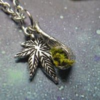 420 Pot Leaf and Pipe necklace by lotusfairy on Etsy