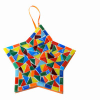 Multicolored Star Christmas Ornament