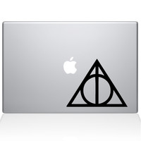 Harry Potter Deathly Hallows Macbook Decal | The Decal Guru