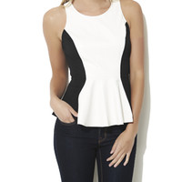 Faux Leather Peplum Top | Shop AB Faux Leather at Arden B
