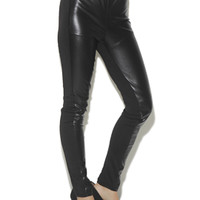 Faux Leather Pieced Legging | Shop AB Faux Leather at Arden B