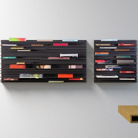Paperback Wall Shelf - Horizontal Book Storage By Studio Parade