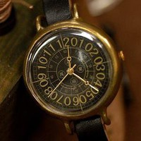 COFFEE BLACK vintage style handmade watch by revolt70 on Etsy