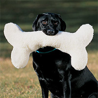 Plush Dog Toy / Huge Wooly Bone -- Orvis