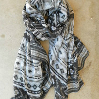 Native Rivers Scarf [3493] - $16.00 : Vintage Inspired Clothing & Affordable Summer Frocks, deloom | Modern. Vintage. Crafted.