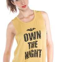 Own the Night Muscle Tank - Mustard from i Joah at Lucky 21