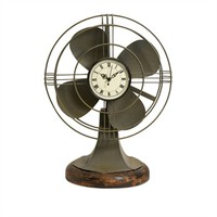 Imax Worldwide Home Thatcher Vintage Fan Clock at Von Maur