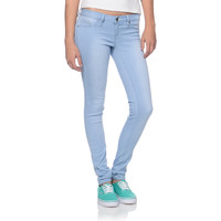YMI 5 Pocket Light Blue Wash Skinny Jeggings at Zumiez : PDP