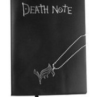 Death Note Notebook Cosplay Book  Metal L Necklace Set **Free Ship**