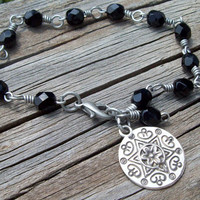 Madala Charmed - Black Crystal Bracelet - Gypsy