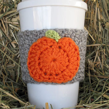 Crochet Pumpkin Coffee Cup Cozy from TheEnchantedLadybug ...