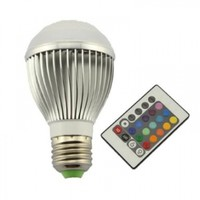 High Power 9W E27 Colorful LED RGB Light Bulb Lamp with Remote Control:Amazon:Camera & Photo