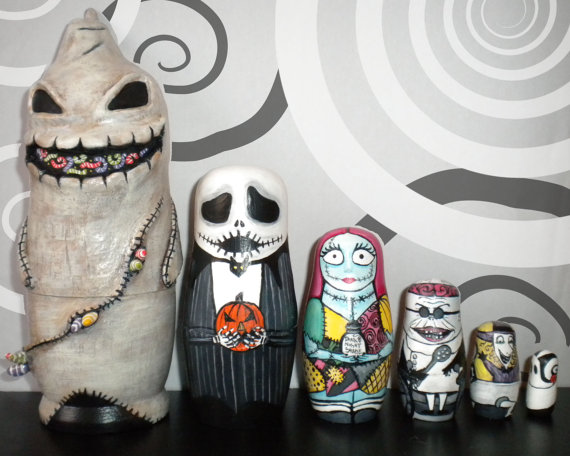 Nightmare Before Christmas Nesting Doll. from PumpkinProuty on