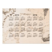 Old Brown Paint 2 Year 2015-2016 Wall Calendar Poster