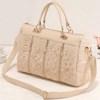 Fashion Lace Handbag&shoulder bag-Nice pink