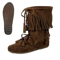 Minnetonka Woodstock Fringe Women's Boots on Sale for $79.95 at HippieShop.com