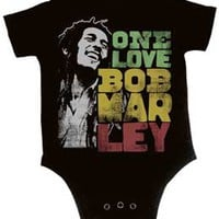 One Love Bob Marley Black One Piece