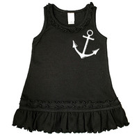 Anchor Dress (black/white)