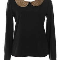 The Sequin Collar Blouse