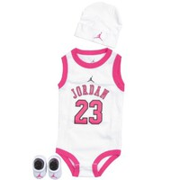 Jordan Baby Clothes 3 Piece Basketball Jersey Set (0-6 months)