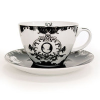 Victorian Cameo Tea Cup &amp; Saucers Set