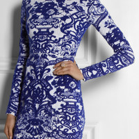 Valentino | Intarsia stretch-knit dress | NET-A-PORTER.COM