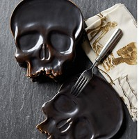 Halloween Skull Plates, Set of 4