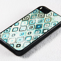 Stylish Tribal Green Pattern iPhone 5 + 4S + 4 + 5C + 5S Tough Rubber and Soft Case, iPod 5 + 4 Case