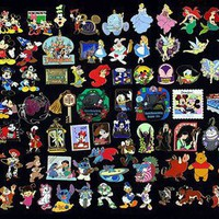 Disney Official Trading Pin Lot of 50 Lapel Collector Pins