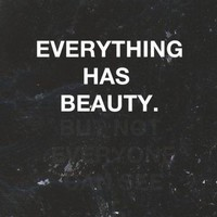 Everything Has Beauty Pictures, Photos, and Images for ... - inspiring picture on Favim.com