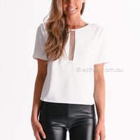 esther casey crop top - white | Esther clothing Australia and America USA, boutique online ladies fashion store, shop global womens wear worldwide, designer womenswear, prom dresses, skirts, jackets, leggings, tights, leather shoes, accessories, free shipp