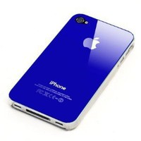 Dark Blue Replicase Hard Air Crystal Jacket Luminosity Case for iPhone 4 (Works with Verizon iPhone): Cell Phones & Accessories