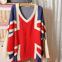Fanewant — VINTAGE LOOSE FLAG SWEATER