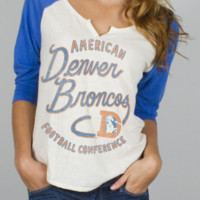 NFL Denver Broncos Rookie Raglan - Women's Collections - NFL - Denver Broncos - Junk Food Clothing